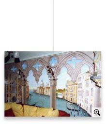 Art work d co int rieure trompes l 39 oeil et fresques d coratives peints - Trompe l oeil interieur maison ...