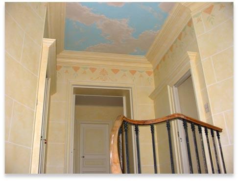 Art work d coration fa ades magasins en trompe l 39 oeil for Peinture mur interieur maison